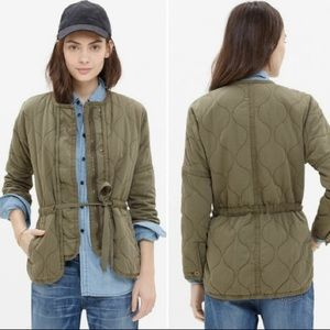 Madewell Quilted Drawstring Jacket